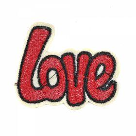 Embleme Adezive, Termoadezive, Decorative Embleme Termoadezive,Love, 6.2x5.2 cm (12 buc/pachet) Cod: EMB01