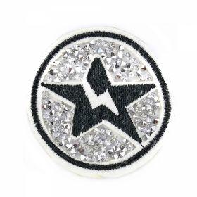 Embleme Adezive, Termoadezive, Decorative Embleme Termoadezive cu Strasuri, 5.8x5.8 cm (12 buc/pachet) Cod: EMB06