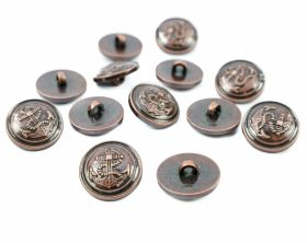 Nasturi cu Picior Plastic Shank Buttons, Size: 15 mm (144 pcs/pack)Code: 58086/15MM