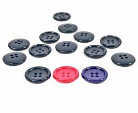 Nasturi cu Doua Gauri 0312-0334/28 (100 buc/punga) Culoare: Alb  Nasturi Plastic cu 4 Gauri, marimea 32L (100 bucati/pachet)Cod: TR43