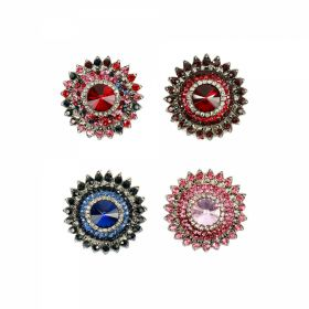 Nasturi cu Picior Shank Buttons with Rhinestones, Size 37 mm (10 pcs/pack) Code: BT0946
