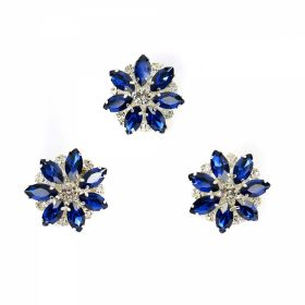 Nasturi cu Picior Shank Buttons with Rhinestones, Size 30 mm (10 pcs/pack) Code: BT0959