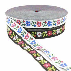 Banda Decorativa Poliester, latime 25 mm (25 metri/rola) Banda Decorativa, latime 16 mm (25 metri/rola)Cod: FLORI
