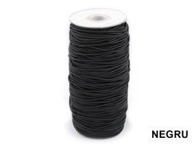 Elastic (benzi elastice) Elastic Rotund, Ø 2 mm (100 metri/rola) Alb, Negru