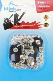 Capse, Matrite, Prese si Accesorii Set Nituri Tubulare 9 mm + Dispozitiv Montare (25 piese/pachet)