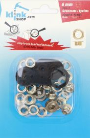 Kituri montare capse, ocheti, nituri 6 mm Eyelets and Grommets Easy Application Kit (20 pcs/pack)