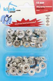 Capse, Matrite, Prese si Accesorii Set Capse 15 mm + Dispozitiv Montare (15 piese/pachet)