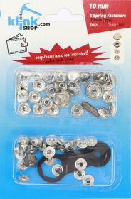 Capse, Matrite, Prese si Accesorii Set Capse 10 mm + Dispozitiv Montare (15 piese/pachet)