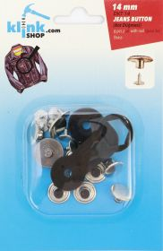 Capse, Matrite, Prese si Accesorii Set Butoni Jeans 14 mm + Dispozitiv Montare (8 piese/pachet)