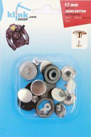Capse, Matrite, Prese si Accesorii Set Butoni Jeans 17 mm + Dispozitiv Montare (8 piese/pachet)