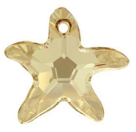 Margele BeCharmed PavÊ (1 bucata)Cod: 181951 Pandantiv Swarovski, Culoare: Crystal Golden Shadow (1 bucata)Cod: 6721-MM40