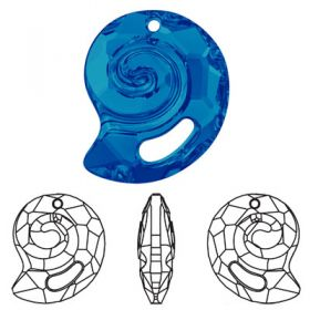 Oferta la 40 Lei + TVA Pandantiv Swarovski, 28 mm, Culoare: Crystal Bermuda Blue (1 bucata) Cod: 6731-28CRABPP