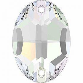 Pandantiv Swarovski, 18 mm, Culori: Crystal Liliac Shadow (1 bucata)Cod: 6673-MM18 Cristale de Cusut Swarovski, 24x17 mm, Culoare: Crystal-AB (1 bucata)Cod: 3210