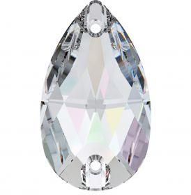 Oferta la 8 Lei + TVA Cristale de Cusut Swarovski, 28x17 mm, Culoare: Crystal-AB (1bucata)Cod: 3230
