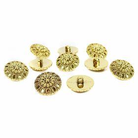 Nasturi Metalizati Nasturi Metalizati, cu Picior, din Plastic, marime 40 (144 bucati/pachet) Cod: B6305