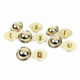 Nasturi AH1211, Marimea 24, Argintii (144 buc/pachet) Nasturi Metalizati, cu Picior, din Plastic, marime 40 Lin (144 bucati/pachet) Cod: B6314