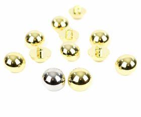 Nasture Plastic Metalizat JU798, Marime 36 (100 buc/pachet) Nasturi Metalizati, cu Picior, din Plastic, 18 mm (144 buc/pachet) Cod: 2614