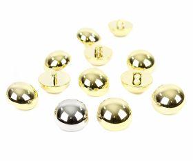 Nasturi Nasturi Metalizati, cu Picior, din Plastic, 21 mm (144 buc/pachet) Cod: 2614