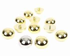 Nasturi Metalizati, cu Picior, din Plastic 18mm(100 bucati/pachet) Cod: 3170 Nasturi Metalizati, cu Picior, din Plastic, 25 mm (50 buc/pachet) Cod: 2614