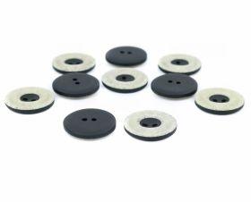 Nasture plastic cu picior 0311-0432/24 (100 bucati/punga) Nasturi cu Doua Gauri DPY0470/36 (100 bucati/punga)