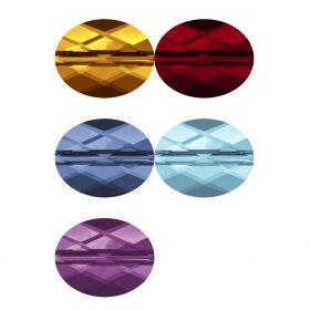 Cristale de Cusut Swarovski, 10 X 7 mm, Culoare: Crystal AB (1 bucata)Cod: 3210 Margele Swarovski, 10x8 mm, Diferite Culori(1 bucata)Cod: 5051