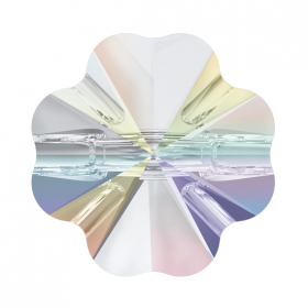 Cristale de Cusut Swarovski, 14mm, Culoare: Crystal (1 bucata)Cod: 3200 Nasturi Swarovski, 10 mm, Culori: Crystal AB (1 bucata)Cod: 3011