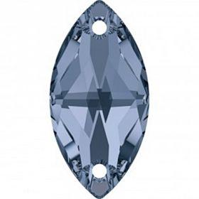 Cristale de Cusut Swarovski, 14mm, Culoare: Crystal (1 bucata)Cod: 3200 Cristale de Cusut Swarovski, 12x6 mm, Culori: Denim Blue (1 bucata)Cod: 3223