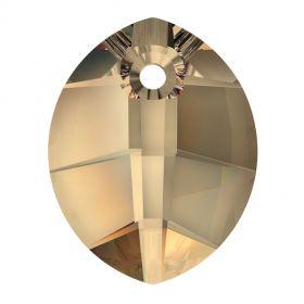 Swarovski Pandantiv Swarovski, 14 mm, Culori: Crystal Golden Shadow (1 bucata)Cod: 6734