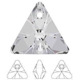 Cristale de Cusut Swarovski, 18x13 mm, Culori: Crystal (1 bucata)Cod: 3250 Pandantiv Swarovski, 16 mm, Culori: Crystal (1 bucata)Cod: 6628