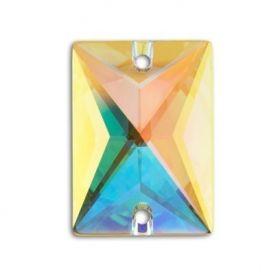 Cristale de Cusut Swarovski, 12.5x13.6 mm, Culoare: Crystal (1 bucata)Cod:  3708 Cristale de Cusut Swarovski, 18x13 mm, Culori: Crystal AB (1 bucata)Cod: 3250