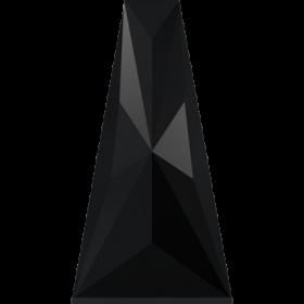 Cristale de Lipit Swarovski, Marimea: 14 mm, Culoare: Crystal (1 bucata)Cod: 2808 Margele Swarovski, 17x9 mm, Culori: Jet (1 bucata)Cod: 5181
