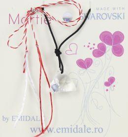 Martisoare la 5.00 Lei  Martisor cu Pandantiv Swarovski, 16 mm, Crystal (1 bucata) Cod: 6628
