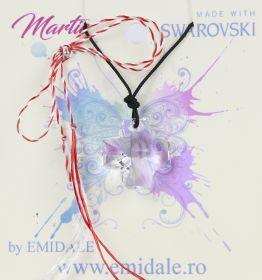 Martisoare la 5.00 Lei  Martisor cu Pandantiv Swarovski, 20 mm, Crystal (1 bucata) Cod: 6866
