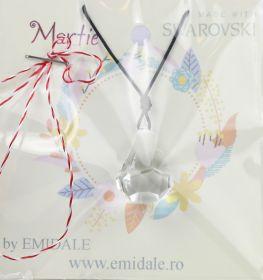 Martisoare la 15.00 Lei Martisor cu Pandantiv Swarovski, 24 mm, Crystal (1 bucata) Cod: 6022