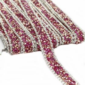 Pasmanterie Iron-on Trim/Border with Rhinestones, 15 mm (9.15 meters/roll)Code: LA3300