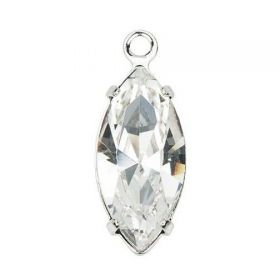 Cristale de Lipit, 12.5 mm, Culoare: Light Siam (1 bucata)Cod: 2720 Pandantiv Swarovski, 10X6 mm, Crystal in montura (1 bucata) Cod: 113304