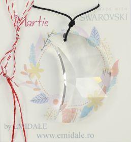 Martisor Martisor cu Pandantiv Swarovski, 50 mm, Crystal (1 bucata) Cod: 6722