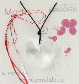 Martisor Martisor cu Pandantiv Swarovski, 28 mm, Crystal (1 bucata) Cod: 6228
