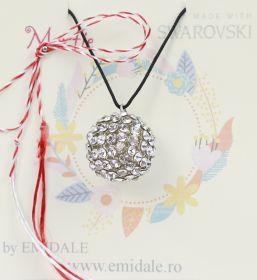 Martisor Pandantiv Swarovski,  19 mm, Crystal (1 bucata)Cod: 40519
