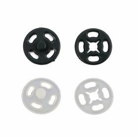 Capse de Cusut Decorative, 30 mm, Auriu, Argintiu, Negru (50 perechi/punga) Capse de Cusut din Plastic, 15 mm, Transparent, Negru (1000 seturi/pachet)