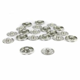Capse la Set Capse de Cusut din Metal, 21 mm, Argintiu (200 seturi/cutie)