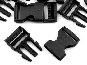 Tridenti Tridenti din Plastic, 25 mm, Negri  (100 bucati/punga) Cod: 050867