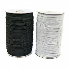Elastic - 50 mm (25 metri/rola) Elastic pentru Confectii, 3 mm (200metri/rola)ALB-NEGRU
