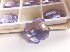 Pandantiv Swarovski, 18 mm, Culoare: Crystal (1 bucata)Cod: 6264-MM18 Pandantive Swarovski Elements 6862, Marimea: 28mm, Culoare: Violet (1 bucata)
