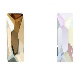 Cristale de Cusut Swarovski, 12.5x13.6 mm, Culoare: Crystal (1 bucata)Cod:  3708 Cristale de Lipit Swarovski, 15x5 mm, Culori: Diferite Culori (1 bucata)Cod: 2555