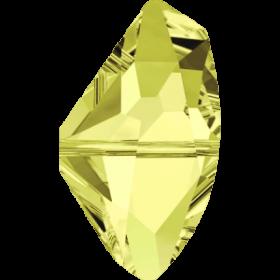 Cristale de Cusut Swarovski, 25x18 mm, Culori: Jet (1 bucata)Cod: 3250 Margele Swarovski, 13x24 mm, Culori: Jonquil (1 bucata)Cod: 5556