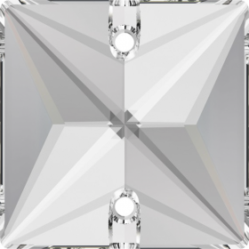 Cristale de Cusut Swarovski, 12.5x13.6 mm, Culoare: Crystal (1 bucata)Cod:  3708 Cristale de Cusut Swarovski, 16 mm, Culori: Crystal Satin (1 bucata)Cod: 3240
