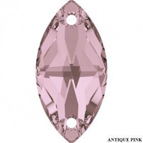 Swarovski Cristale de Cusut Swarovski, 18x9 mm, Culori: Crystal Antique Pink (1 bucata)Cod: 3223