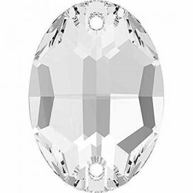 Cristale de Cusut Swarovski, 12.5x13.6 mm, Culoare: Crystal (1 bucata)Cod:  3708 Cristale de Cusut Swarovski, 16x11 mm, Culoare: Crystal (1 bucata)Cod: 3210