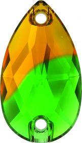 Pandantiv Swarovski, 20 mm, Culoare: Crystal (1 bucata)Cod: 6704-MM20 Cristale de Cusut Swarovski, 18x10.5 mm, Culoare: Fern Green Topaz (1 bucata)Cod: 3230